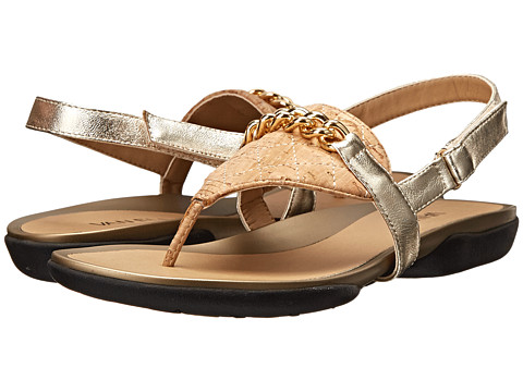 Vaneli - Wenda (Natural Quilted Cork/Platino Met Ecco Nappa) Women's Sandals