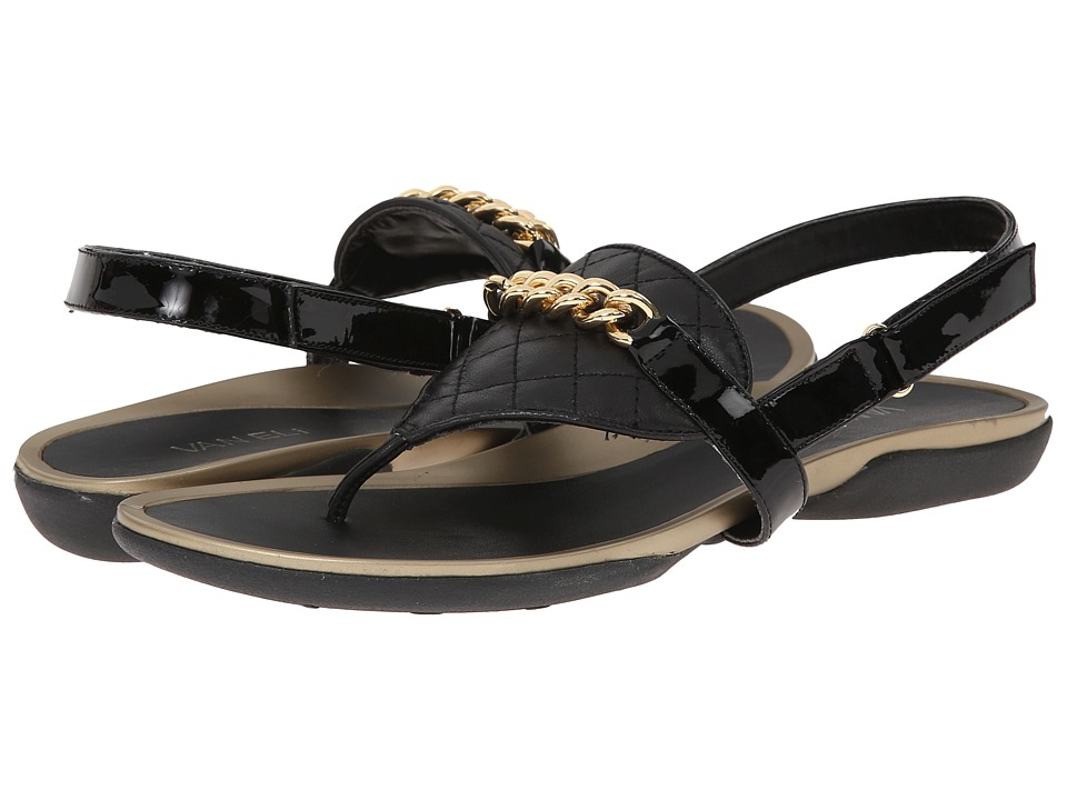 Vaneli - Wenda (Black Quilted Nappa/Black Mag Patent) Women's Sandals