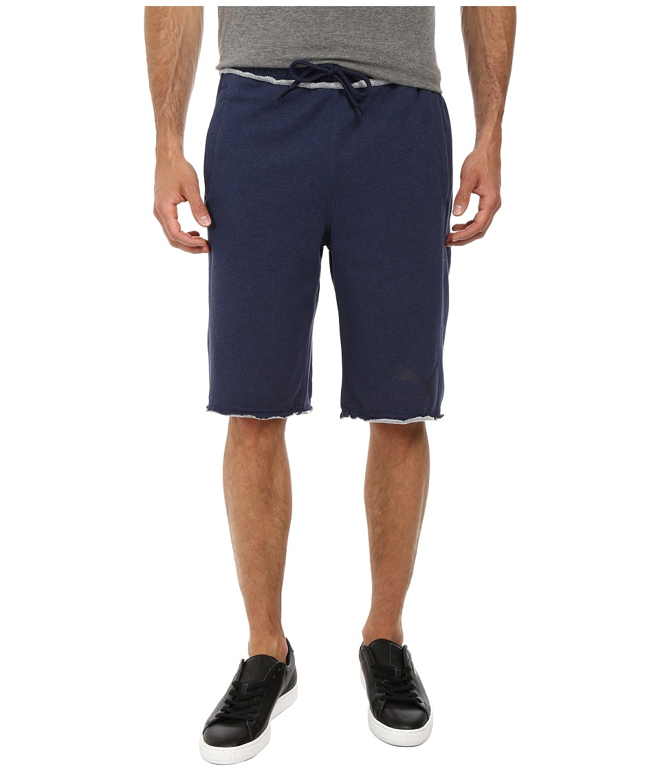 PUMA - 12 Sweat Bermuda (Peacoat Heather) Men's Shorts
