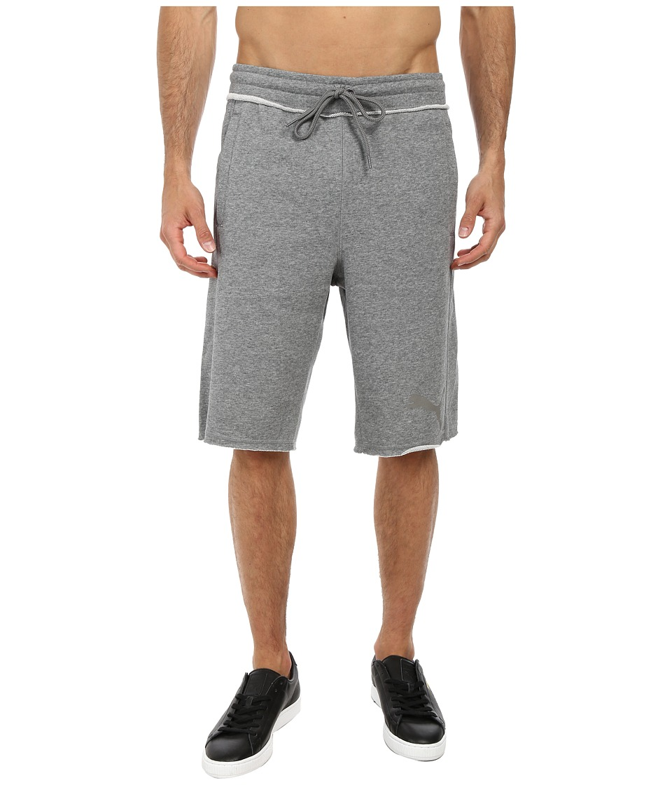 PUMA - 12 Sweat Bermuda (Medium Grey Heather) Men's Shorts