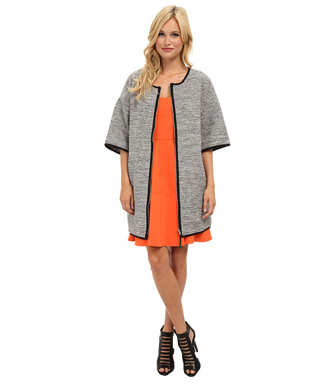 Aryn K - Crop Sleeve Jacket (Grey Black) Women