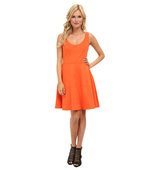Aryn K - A-Line Dress (Orange) Women's Dress