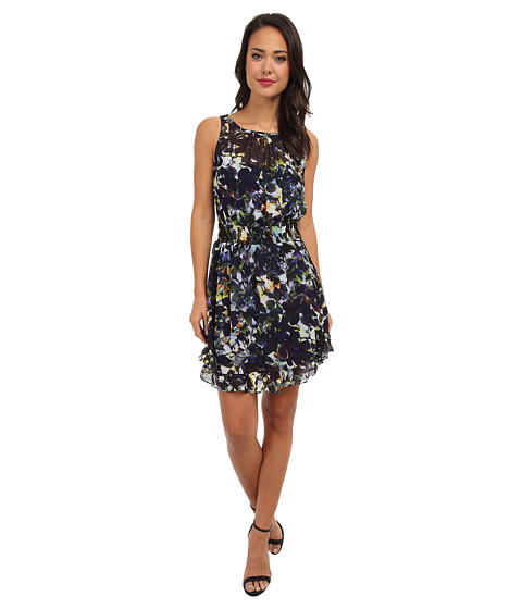 Aryn K - Floral Dress (Navy Multi) Women's Dress