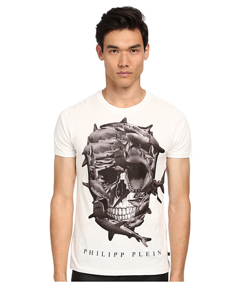 Philipp Plein - Black Skull T-Shirt (White) Men's T Shirt