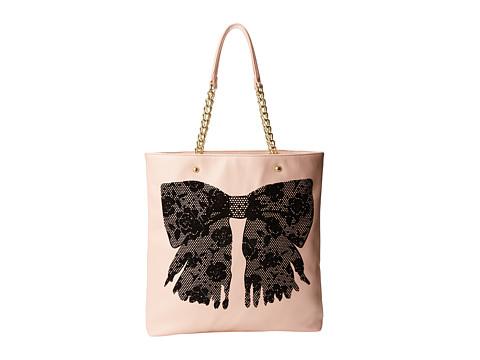 Betsey Johnson - Flock-A-Bows Tote (Blush) Tote Handbags
