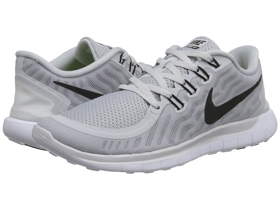 Nike - Free 5.0 (Pure Platinum/Wolf Grey/Cool Grey/Black) Women's Running Shoes