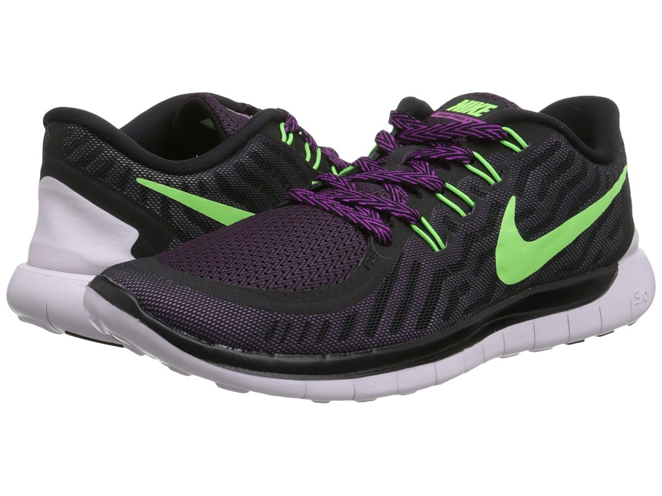 Nike - Free 5.0 (Black/Fuchsia Flash/Light Retro/Flash Lime) Women's Running Shoes