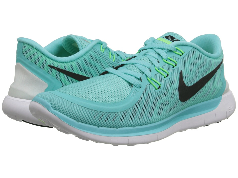 Nike - Free 5.0 (Light Aqua/Light Retro/Green Glow/Black) Women's Running Shoes