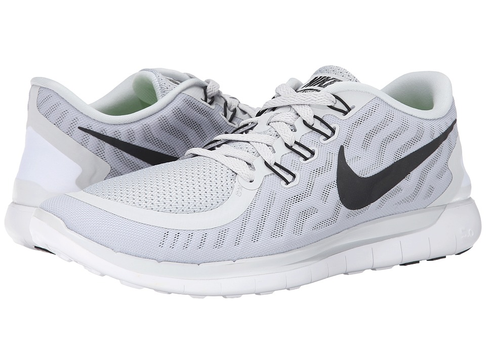 Nike - Free 5.0 (Pure Platinum/Wolf Grey/Cool Grey/Black) Men's Running Shoes