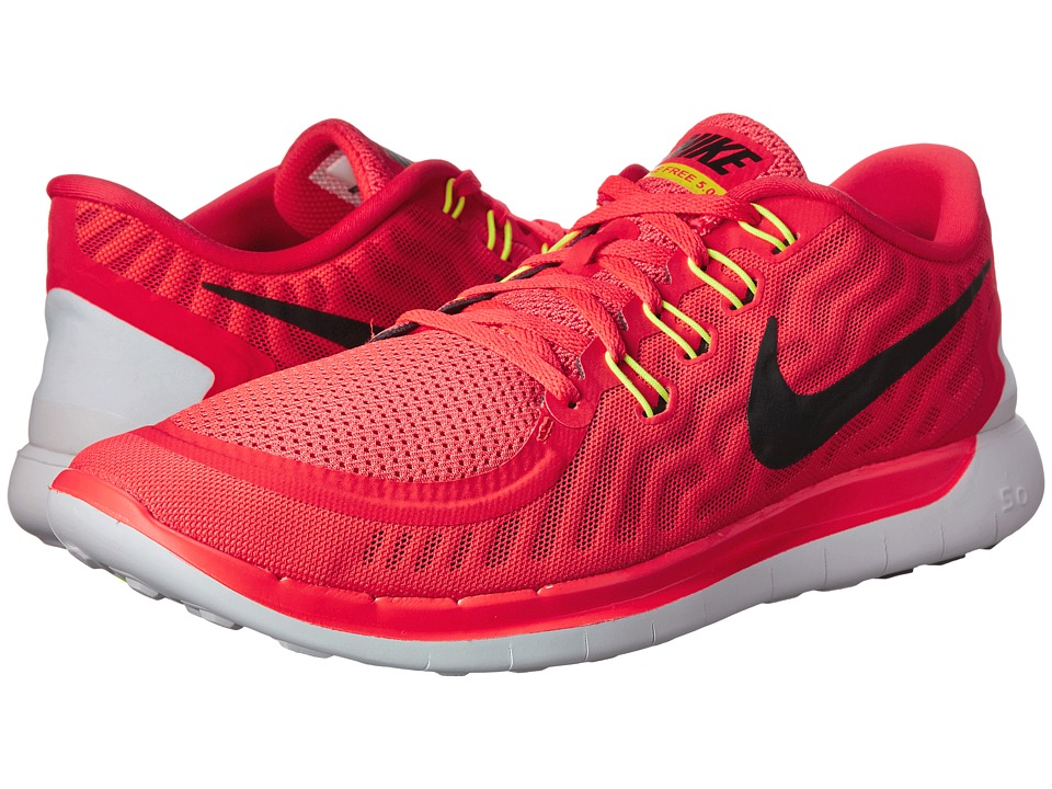 Nike - Free 5.0 (Bright Crimson/Total Orange/Bright Citrus/Black) Men's Running Shoes