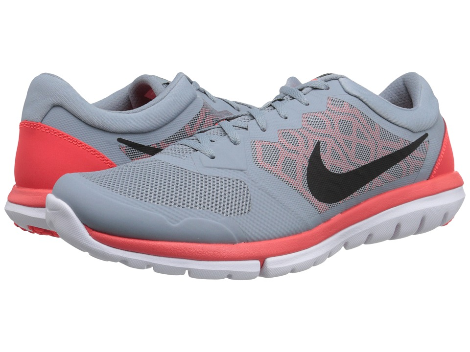 Nike - Flex 2015 RUN (Dove Grey/Bright Crimson/White/Black) Men's Running Shoes