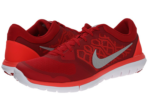 Nike - Flex 2015 RUN (Gym Red/Bright Crimson/White/Metallic Silver) Men