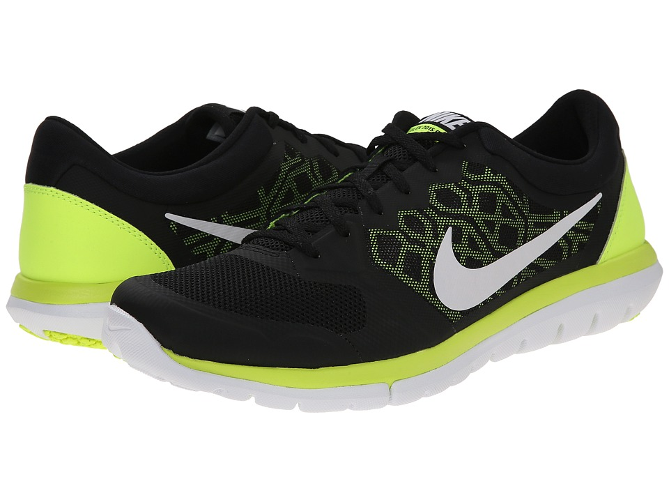 Nike - Flex 2015 RUN (Black/Volt/White) Men's Running Shoes