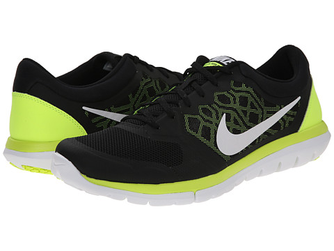 Nike - Flex 2015 RUN (Black/Volt/White) Men