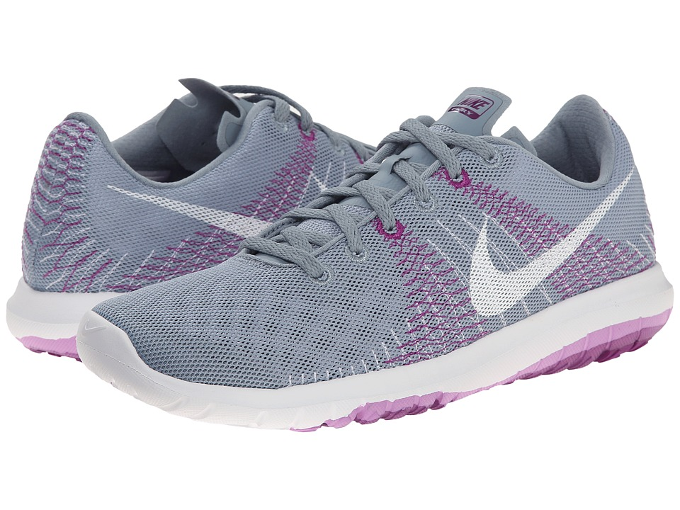 Nike - Flex Fury (Dove Grey/Fuchsia Glow/Bold Berry/White) Women's Running Shoes