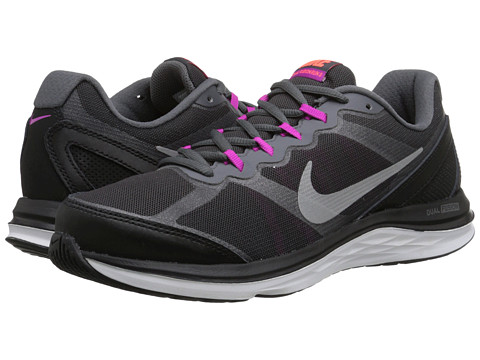 Nike - Dual Fusion Run 3 PR (Black/Fuchsia Flash/Hot Lava/Metallic Silver) Women's Running Shoes
