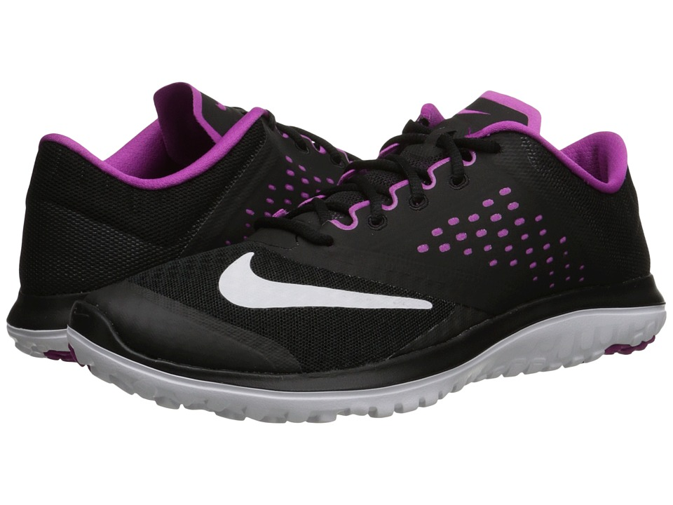 Nike - FS Lite Run 2 (Black/Fuchsia Flash/White) Women's Running Shoes