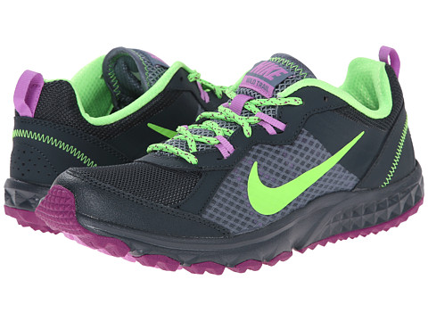 Nike - Wild Trail (Classic Charcoal/Blue Graphite/Fuchsia Glow/Flash Lime) Women