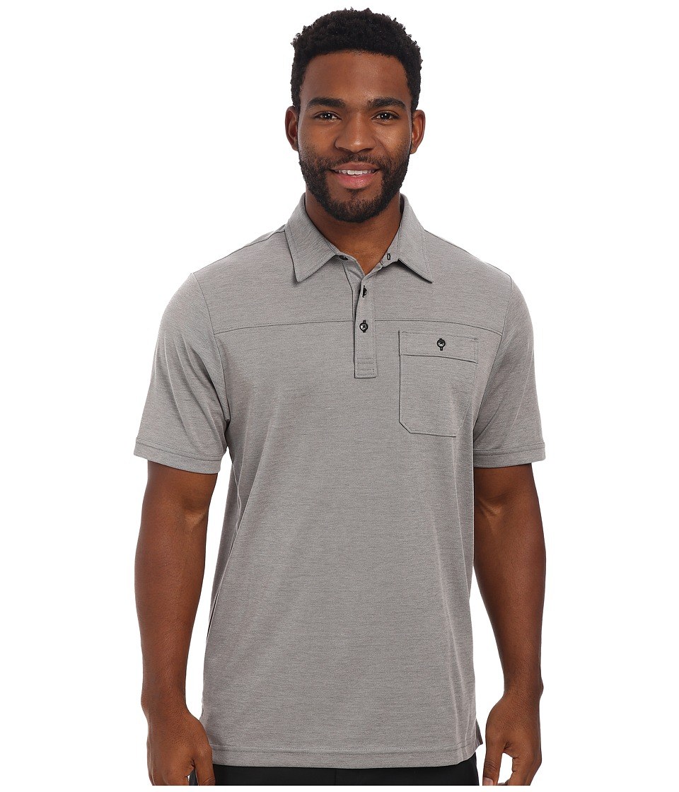 TravisMathew - Drebin Polo (Grey) Men's Short Sleeve Knit