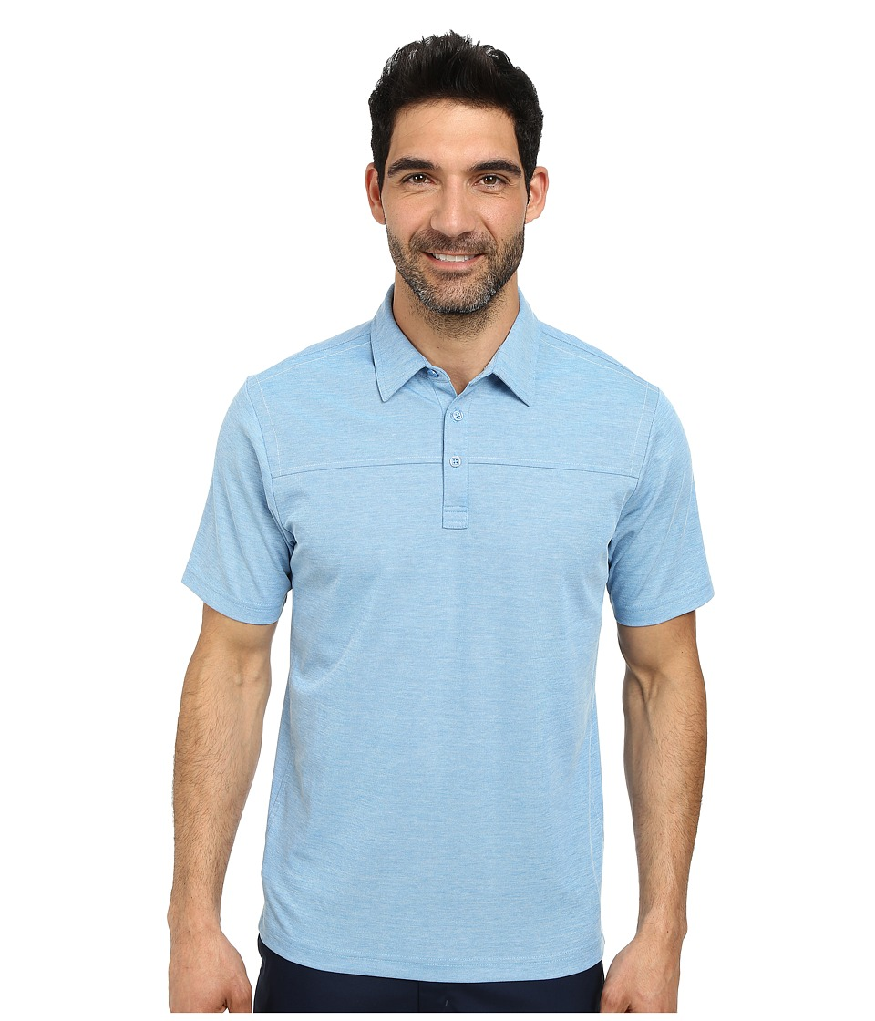 TravisMathew - Jean Debeaux Polo (Brilliant Blue) Men's Short Sleeve Pullover