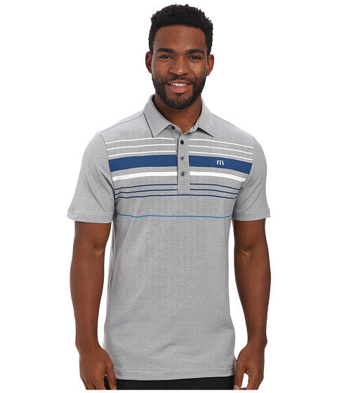 TravisMathew - Balboa Polo (Grey) Men's Short Sleeve Knit