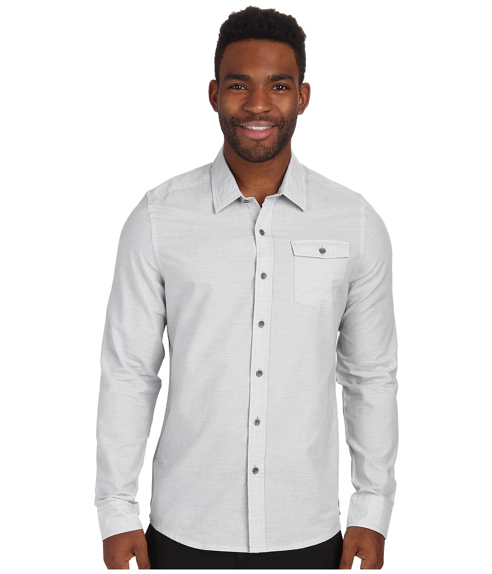 TravisMathew - Shawshank Woven (Monument) Men's Long Sleeve Button Up