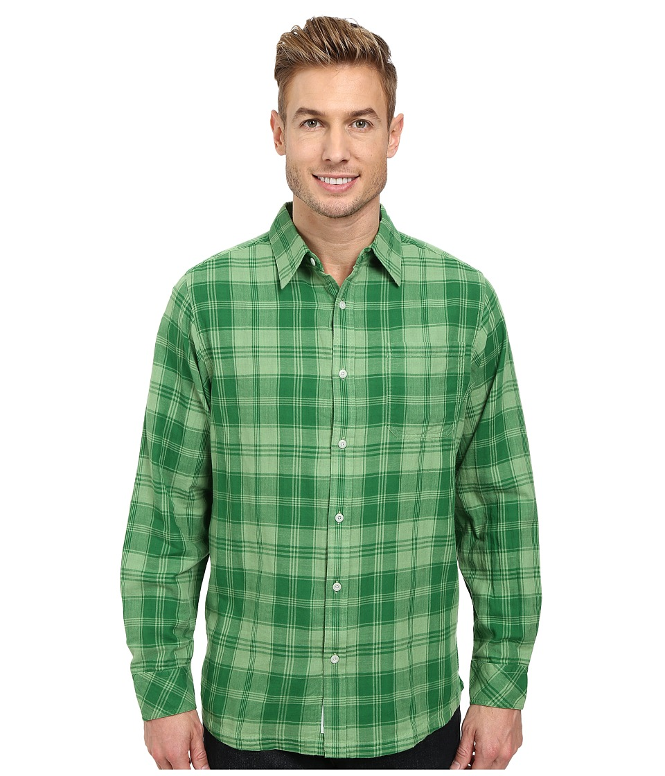Mountain Khakis - Two Ocean L/S Shirt (Mint/Evergreen) Men's Long Sleeve Button Up