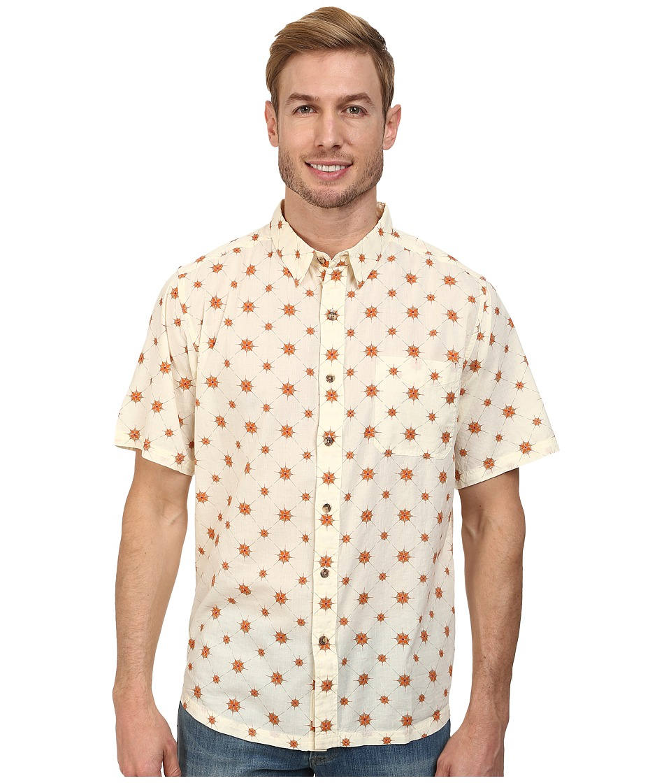 Mountain Khakis - Compass Signature Print Shirt (Cream) Men's T Shirt