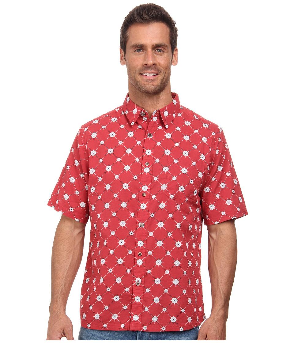 Mountain Khakis - Compass Signature Print Shirt (Engine Red) Men's T Shirt