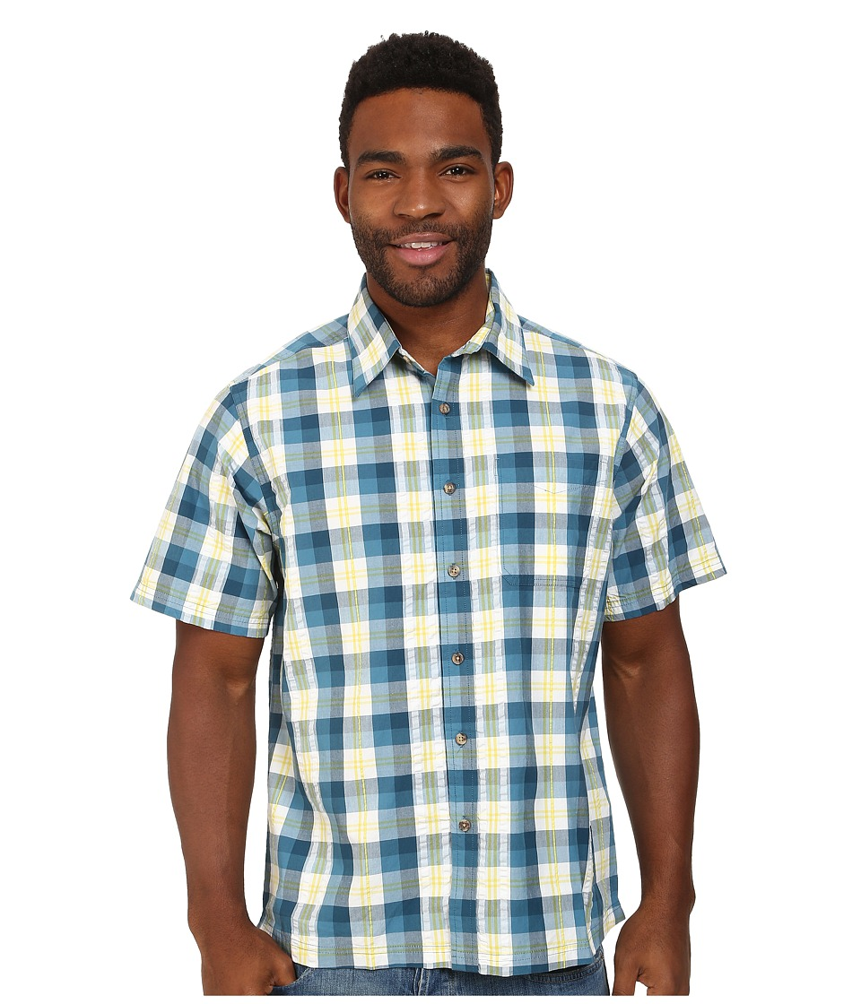 Mountain Khakis - Deep Creek Crinkle Shirt (Blue Heron Multi) Men's Short Sleeve Button Up