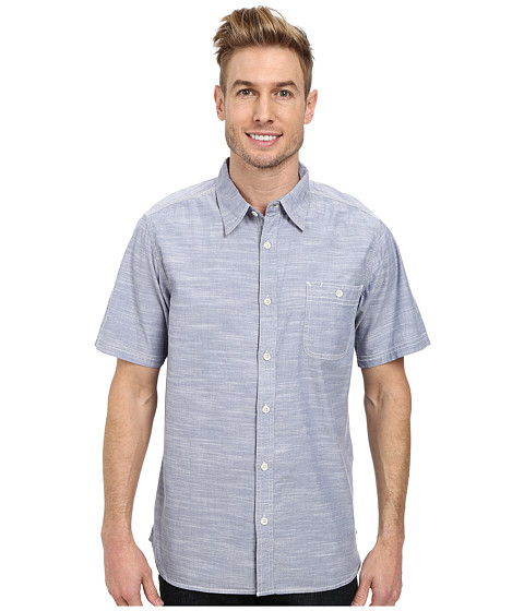 Mountain Khakis - Mountain Chambray S/S Shirt (Bahama Blue) Men