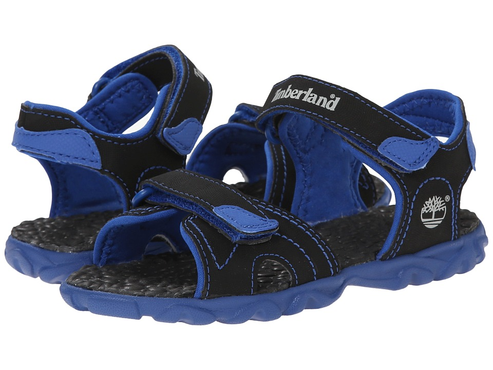 Timberland Kids - Splashtown 2-Strap Sandal (Toddler/Little Kid) (Black/Royal) Boys Shoes