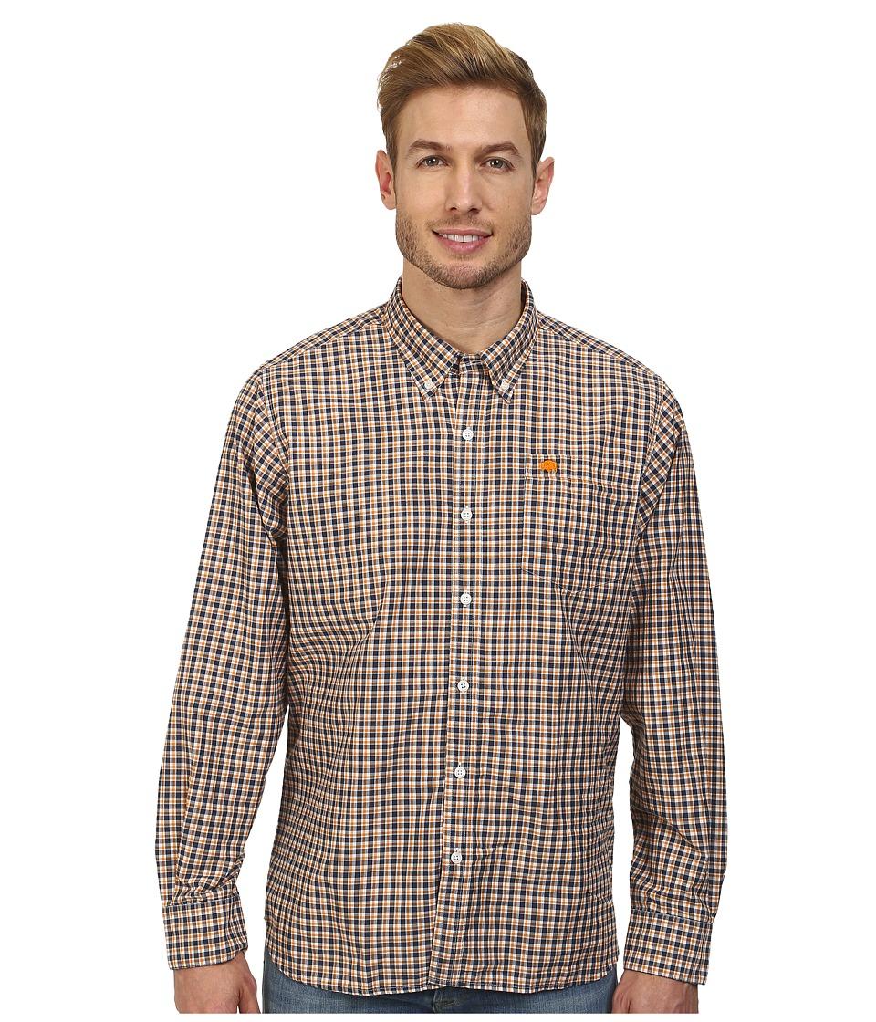 Mountain Khakis - Spalding Gingham Shirt (Midnight Blue/Cantaloupe) Men's T Shirt