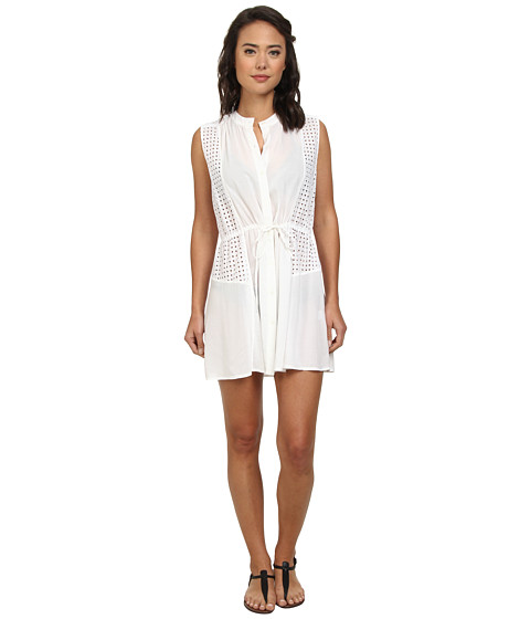Shoshanna - Beach Shirt Dress (White) Women's Dress