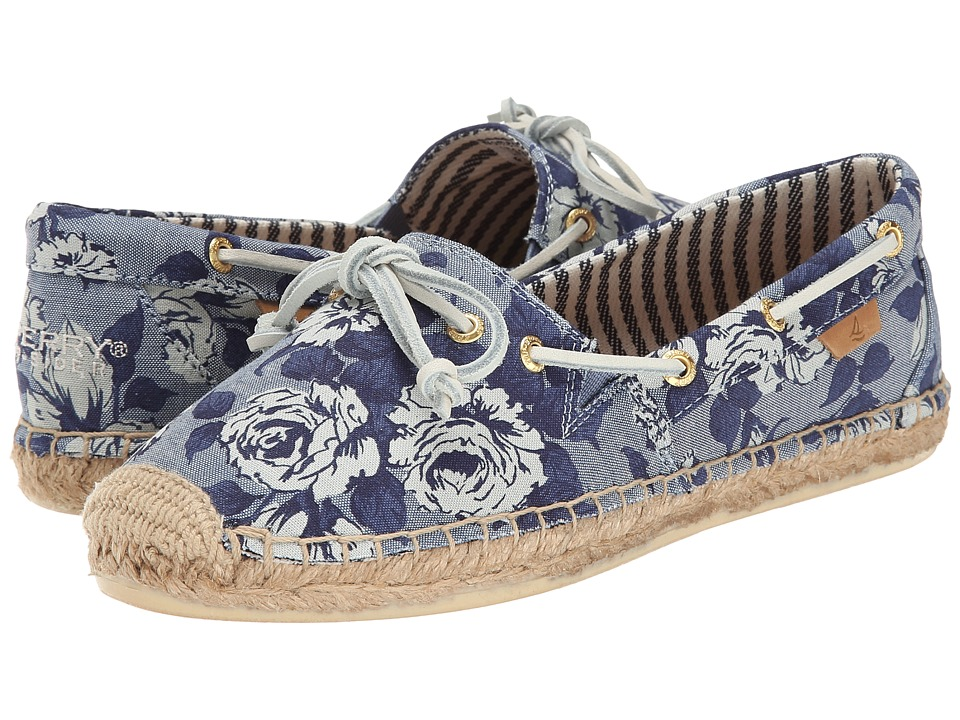 Sperry - Katama Prints (Blue Chambray (Liberty)) Women's Slip on Shoes