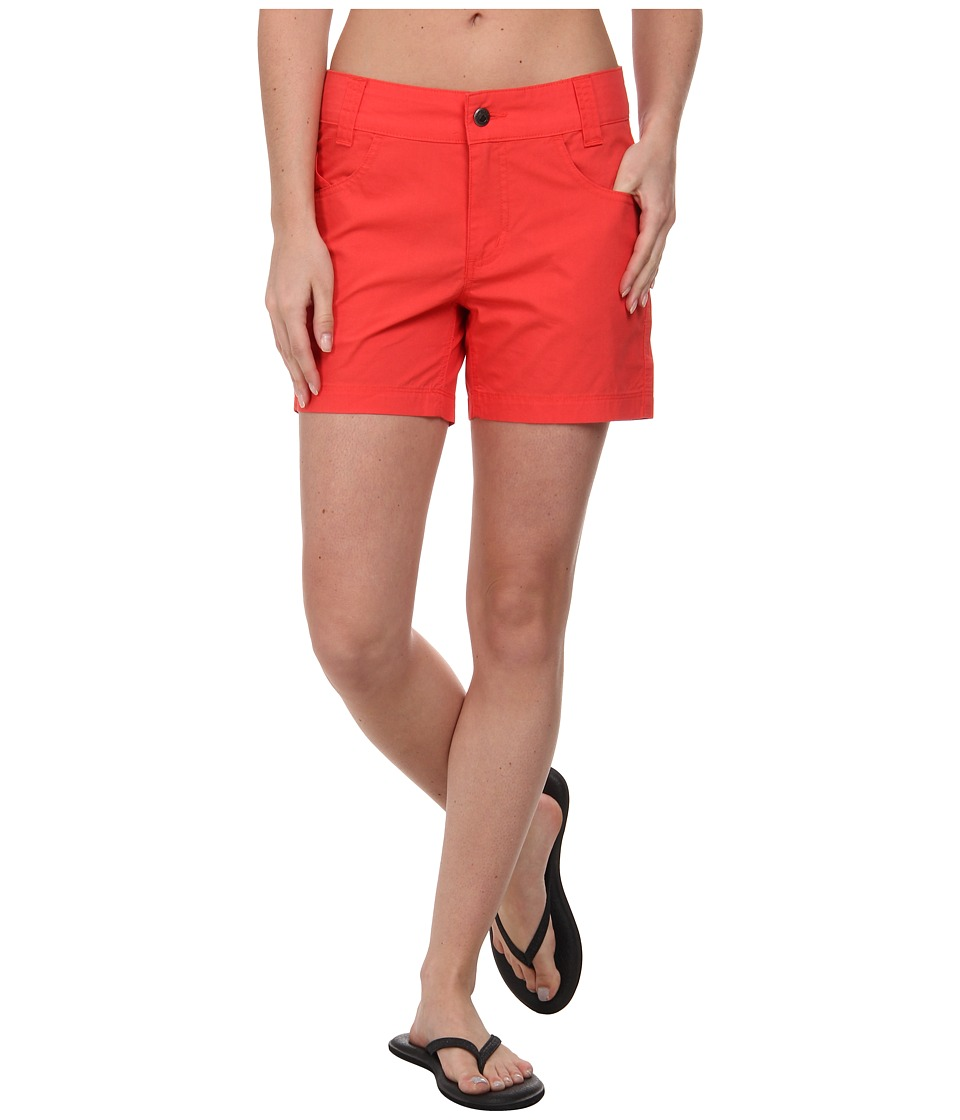 Mountain Khakis - Stretch Poplin Short (Hibiscus) Women's Shorts