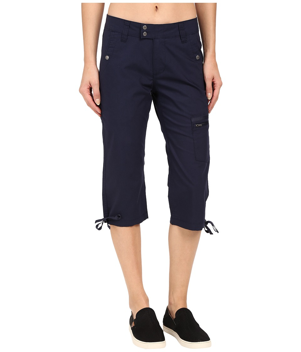 Mountain Khakis - Stretch Poplin Capri (Midnight Blue) Women's Capri