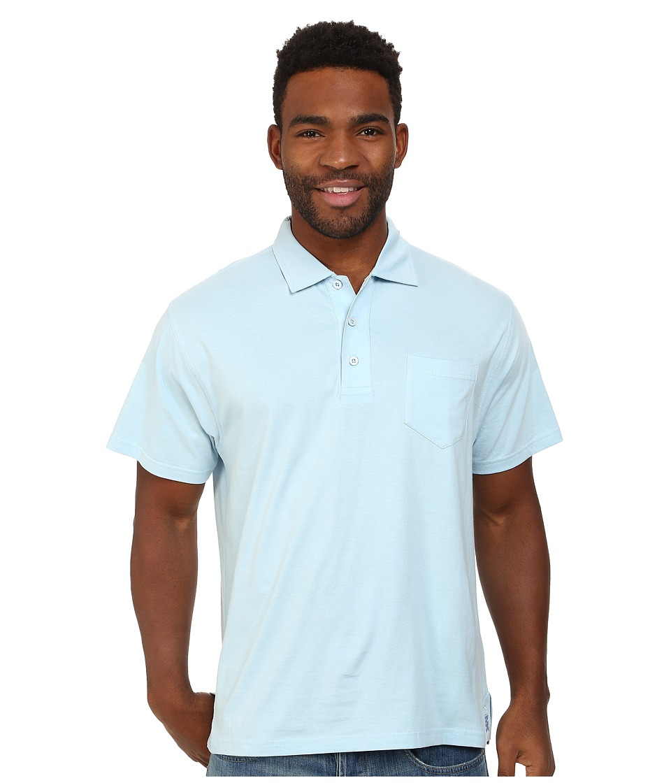 Mountain Khakis - Patio Polo Shirt (Morning Sky) Men's Short Sleeve Pullover