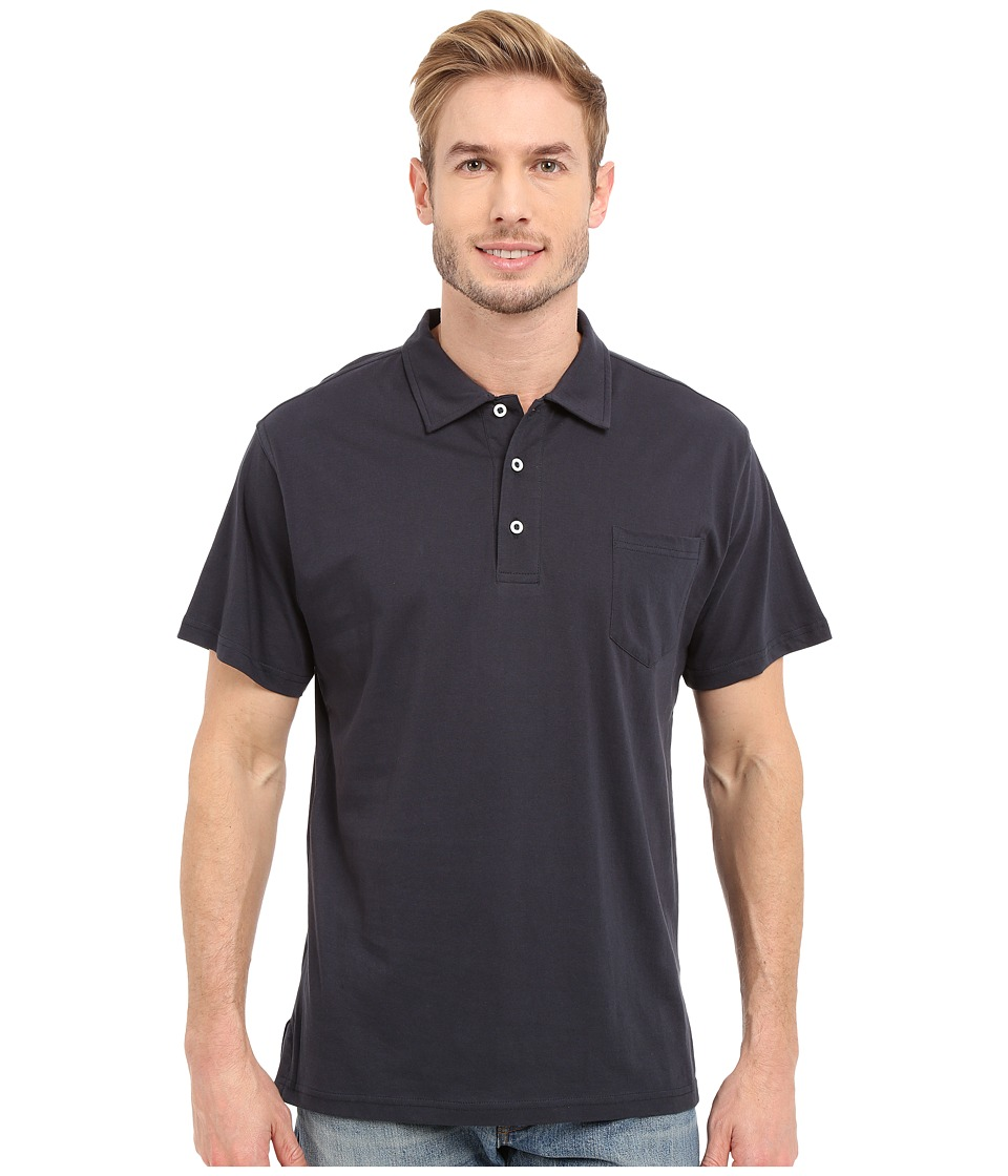 Mountain Khakis - Patio Polo Shirt (Navy) Men's Short Sleeve Pullover