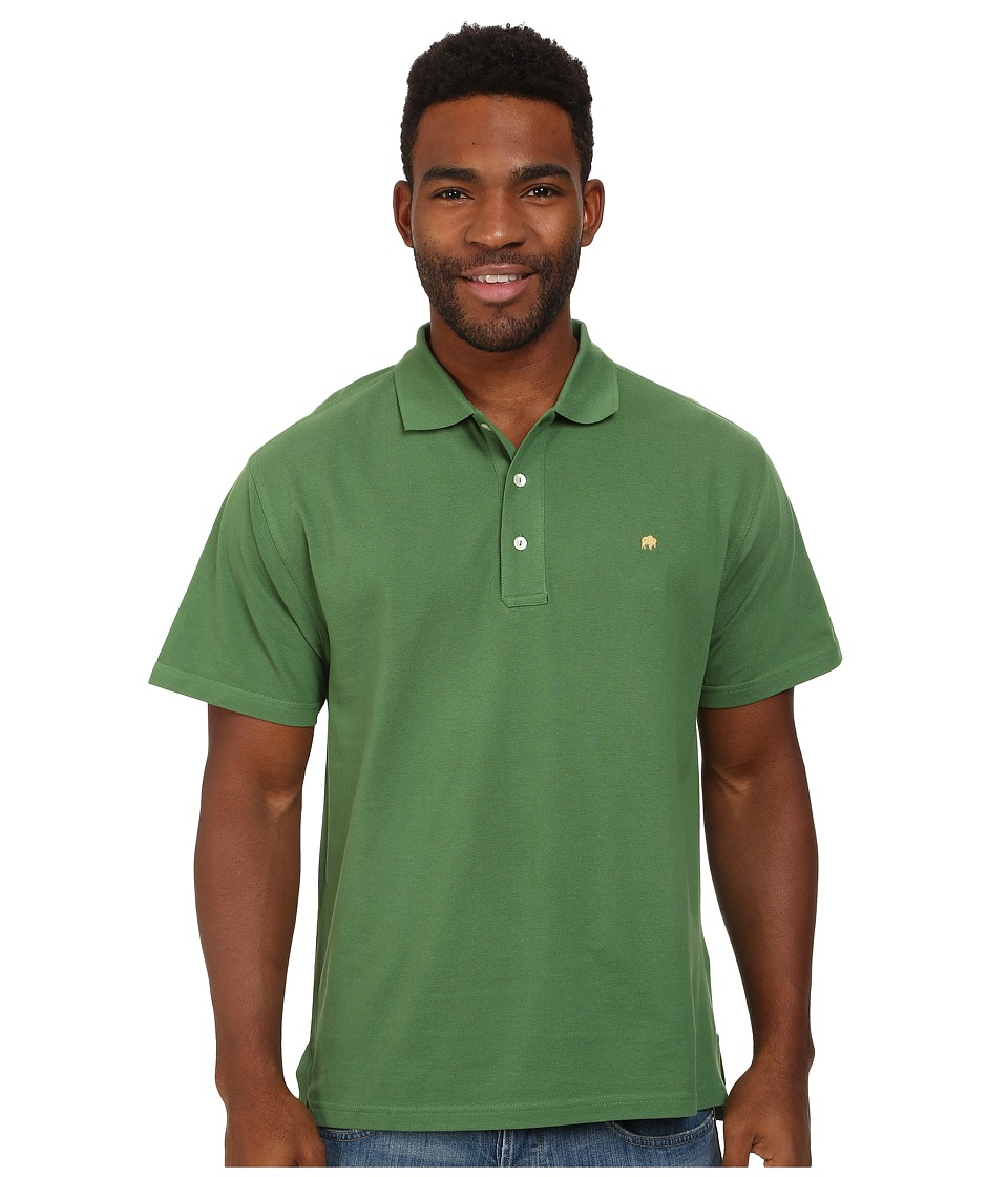Mountain Khakis - Bison Polo Shirt (Evergreen) Men's Short Sleeve Pullover