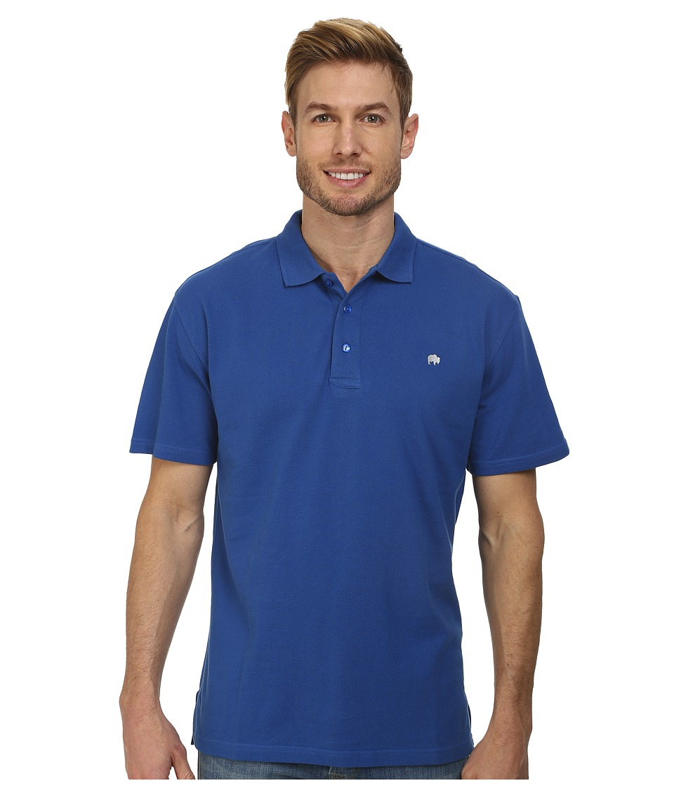 Mountain Khakis - Bison Polo Shirt (Storm Blue) Men's Short Sleeve Pullover