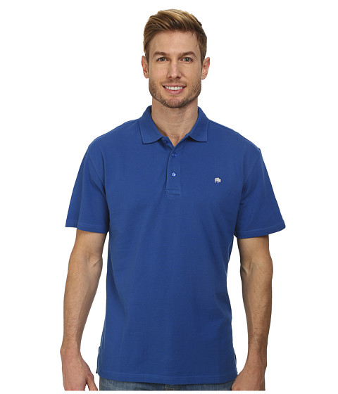 Mountain Khakis - Bison Polo Shirt (Storm Blue) Men