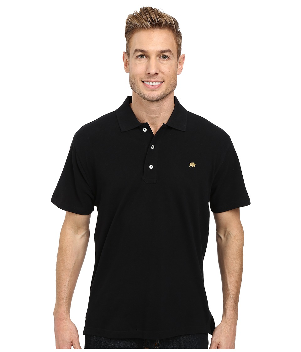 Mountain khakis bison polo shirt black men 39 s short for Mens pullover shirts short sleeve