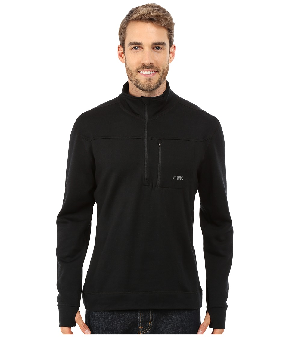 Mountain Khakis - Rendezvous Quarter Zip Shirt (Black) Men's T Shirt