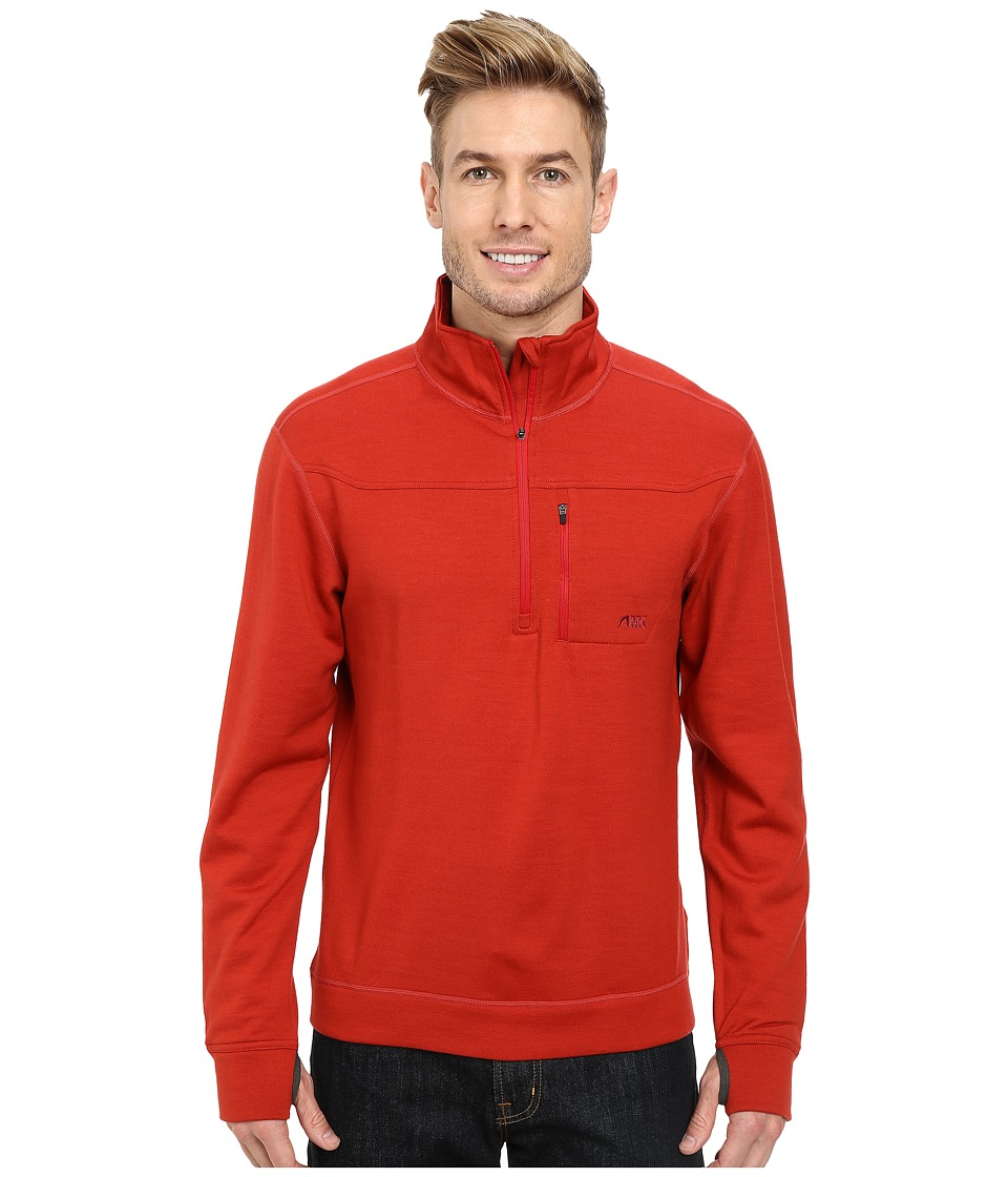 Mountain Khakis - Rendezvous Quarter Zip Shirt (Engine Red) Men's T Shirt