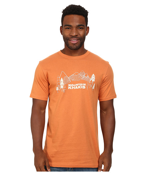 Mountain Khakis - Treeline Short Sleeve Shirt (Rust) Men's T Shirt