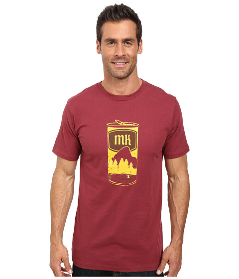 Mountain Khakis - Brewski Short Sleeve Shirt (Burgundy) Men's T Shirt