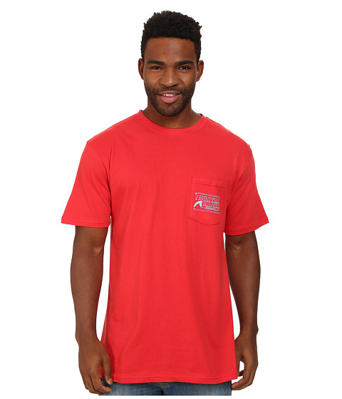 Mountain Khakis - Drawn Logo Short Sleeve Pocket Shirt (Red Pepper) Men