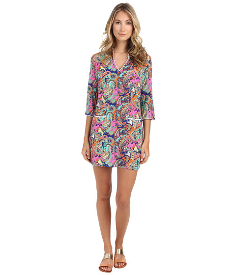Shoshanna - Beach Tunic 8692065 (Neon Pink Multi) Women's Dress
