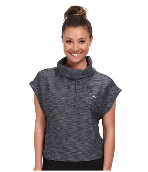 PUMA - ST Yogini Cover Up (Grey) Women's Short Sleeve Pullover